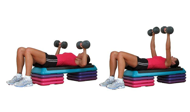 Chest Press on the Step