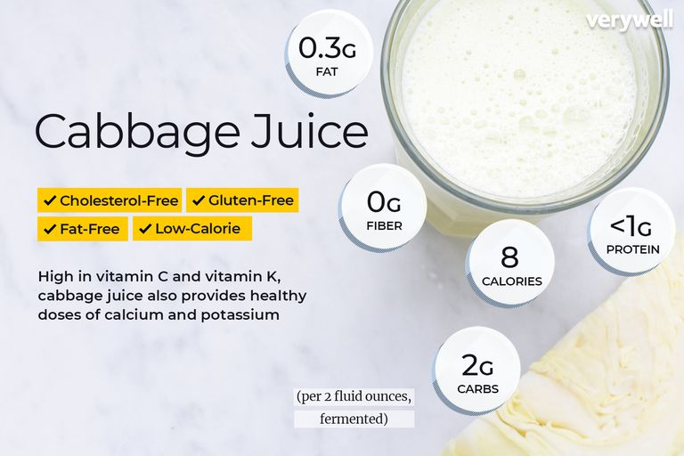 cabbage juice nutrition facts and health benefits