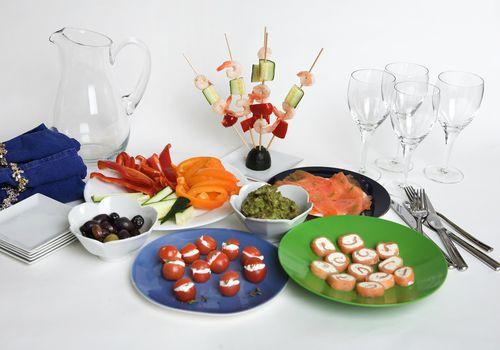 alimentos de fiesta bajos en carbohidratos