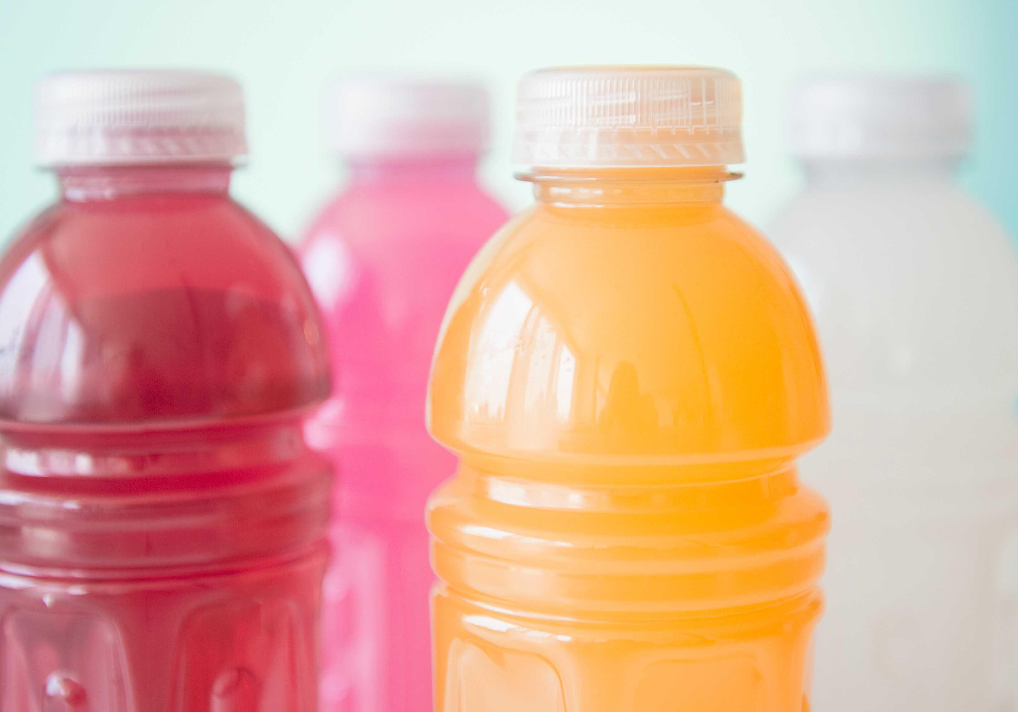 bebidas de jugo en botellas
