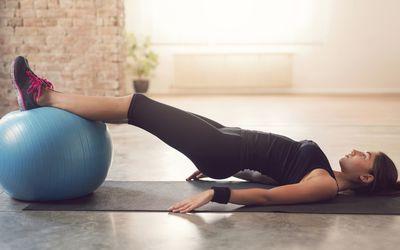 Practicing Pilates