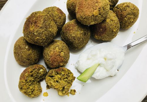 mushroom and lentil balls