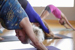women doing yoga in studio