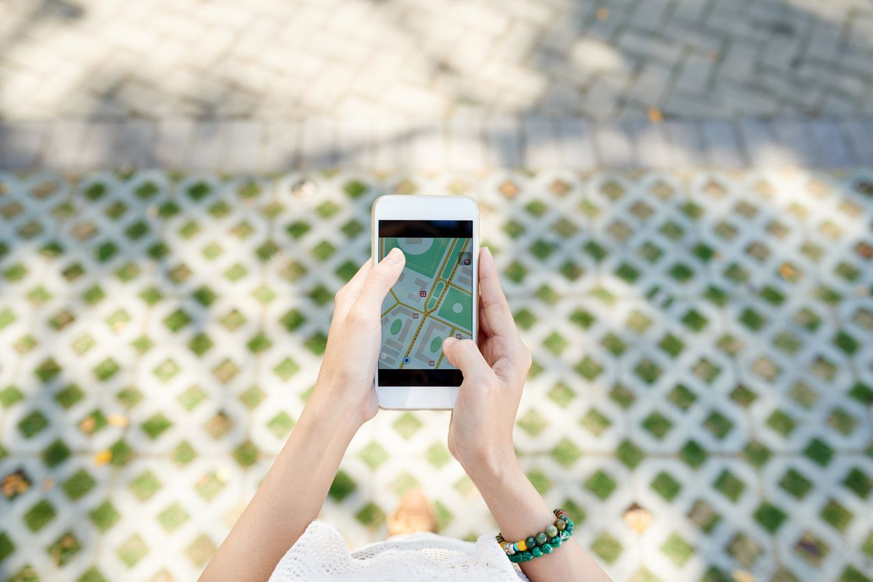 aplicación de mapas en iphone