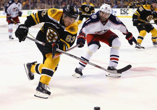 Un juego de hockey profesional.