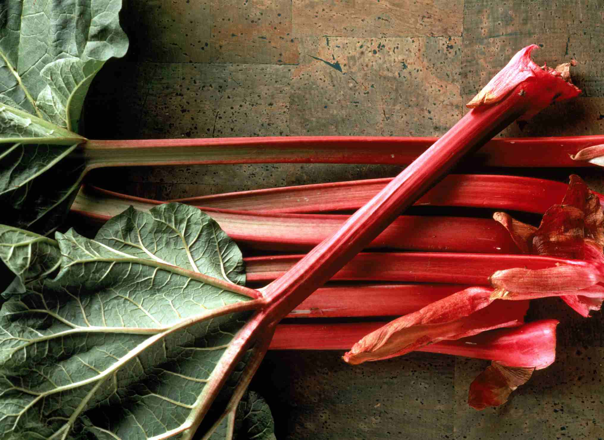 Rhubarb is high in calciun.