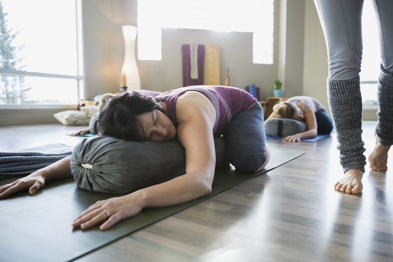Restorative Child's Pose With a Bolster