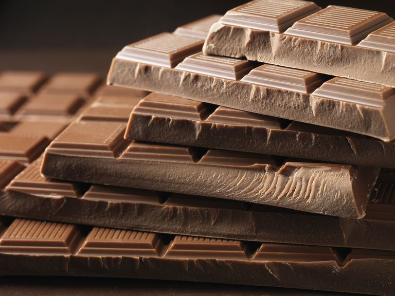 Close up of bars of chocolate