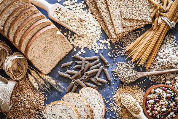 A variety of whole grains