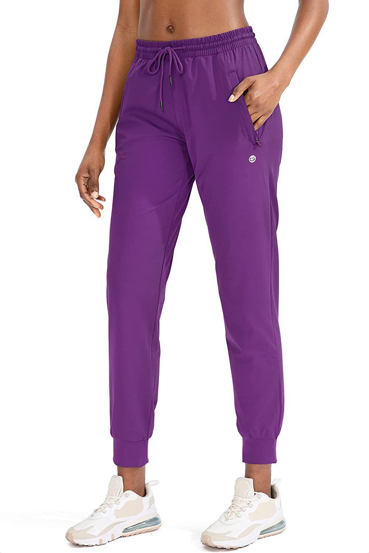 G Gradual Women's Joggers Pants with Zipper Pockets