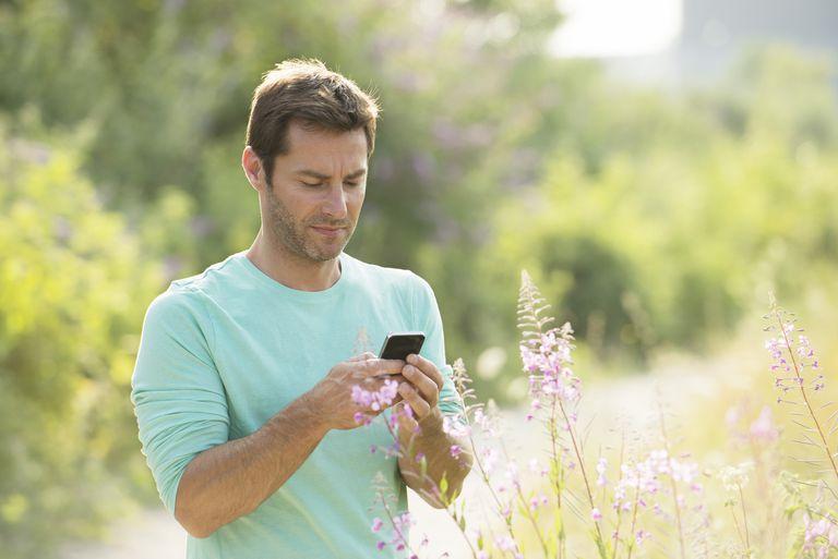 Man Checking Phone App