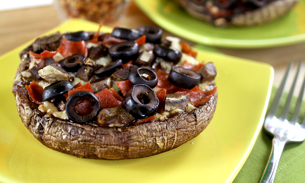 mushrooms as a pizza
