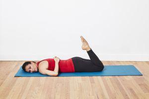 pilates double-leg kick