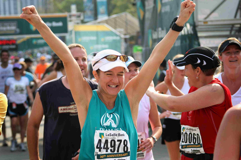 Finalista del maratón de Chicago
