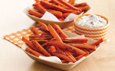 carrot fries and dip