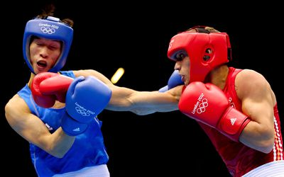 A boxing match during the 2012 London Olympics.