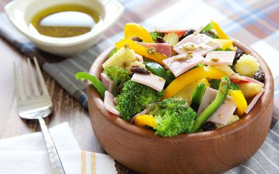 Healthy salad as a meal.