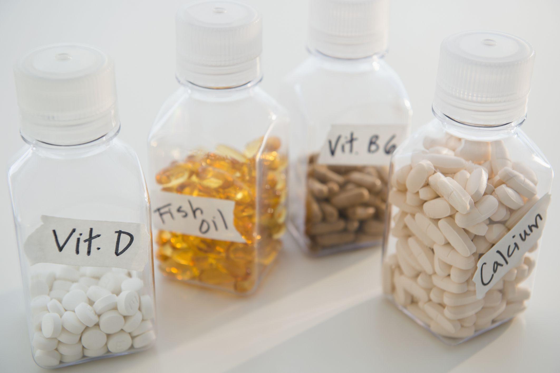 Suplementos en botellas