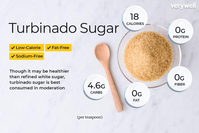 Turbinado sugar, annotated