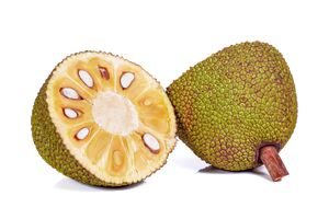 jackfruit cut in half