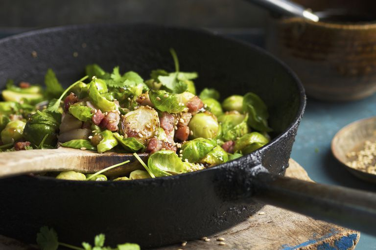 Bacon and brussel sprouts
