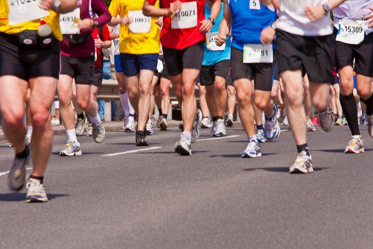 Runners Legs in Race
