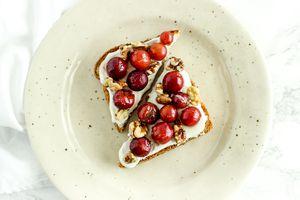 Roasted Grape and Walnut Toast