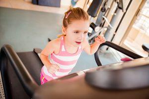 Little Girl on Treadmill