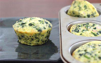 Spinach and Quinoa Breakfast Mini QUiche