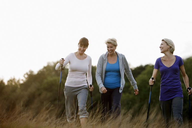 Three women walking
