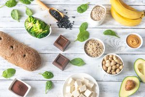 Magnesium-rich foods - stock photo