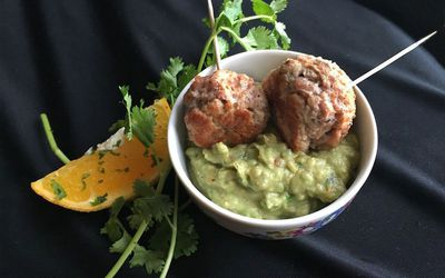 Naked Turkey Meatballs With Citrus Guac
