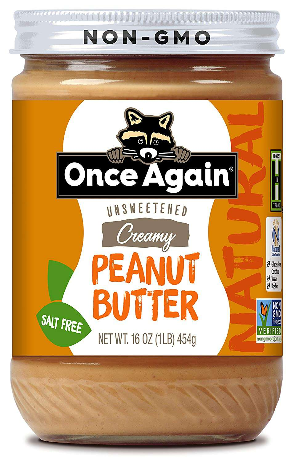 Once Again Unsweetened Salt-Free Creamy Peanut Butter