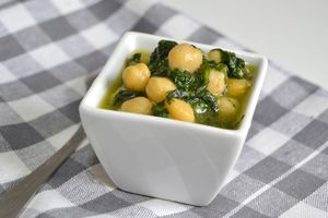 Chickpeas and spinach are high in folate.