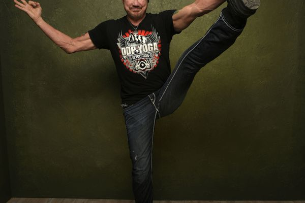 Diamond Dallas Page doing yoga