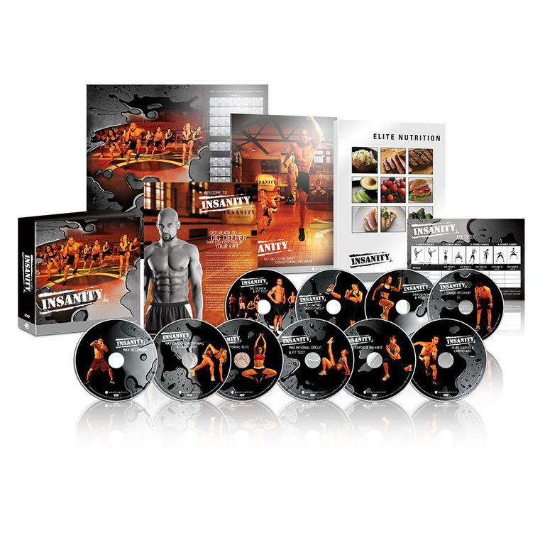 Insanity Workout Program boxes and discs