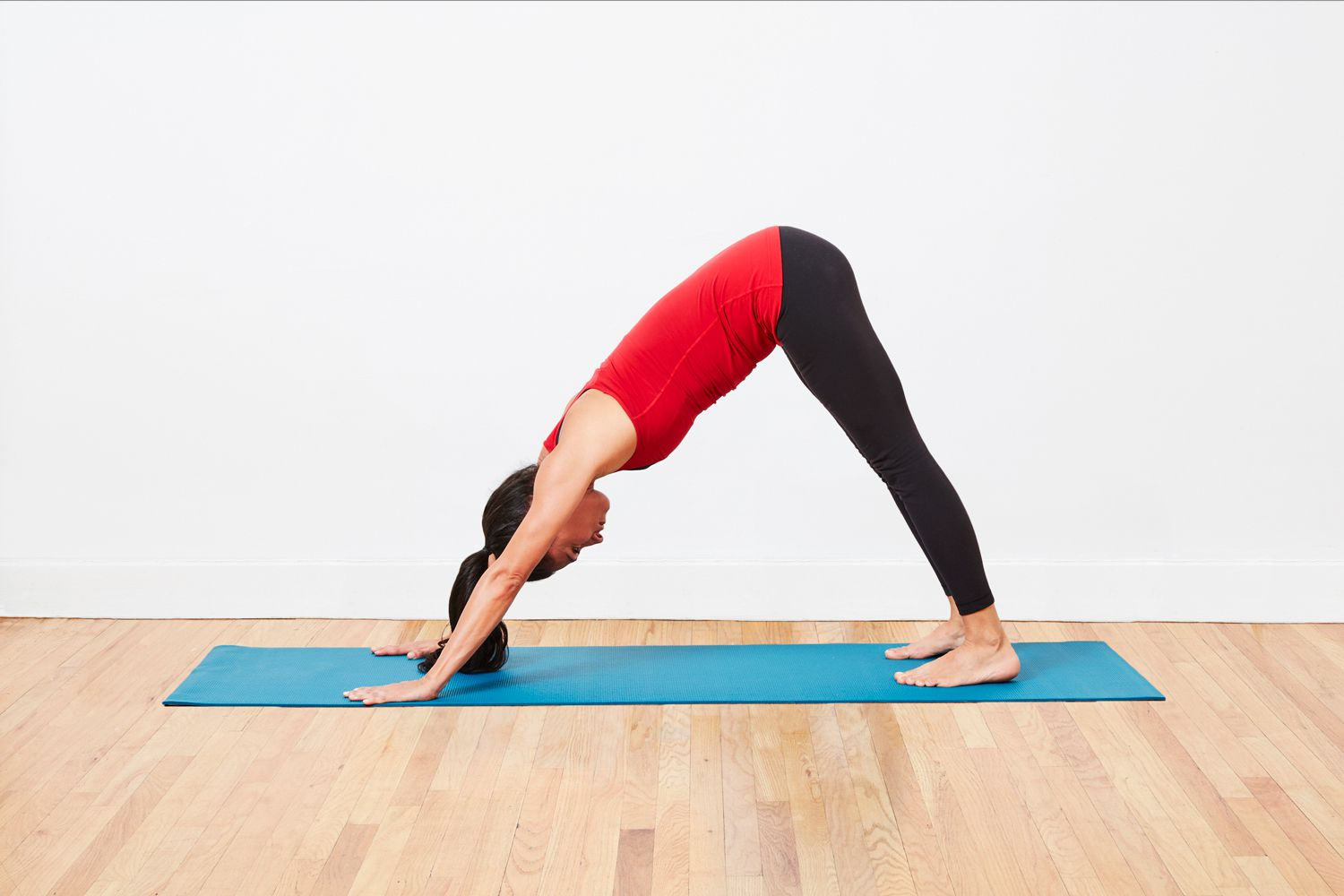 downward facing dog yoga position
