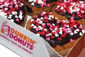 Dunkin' Donuts Heart-Shaped Donuts