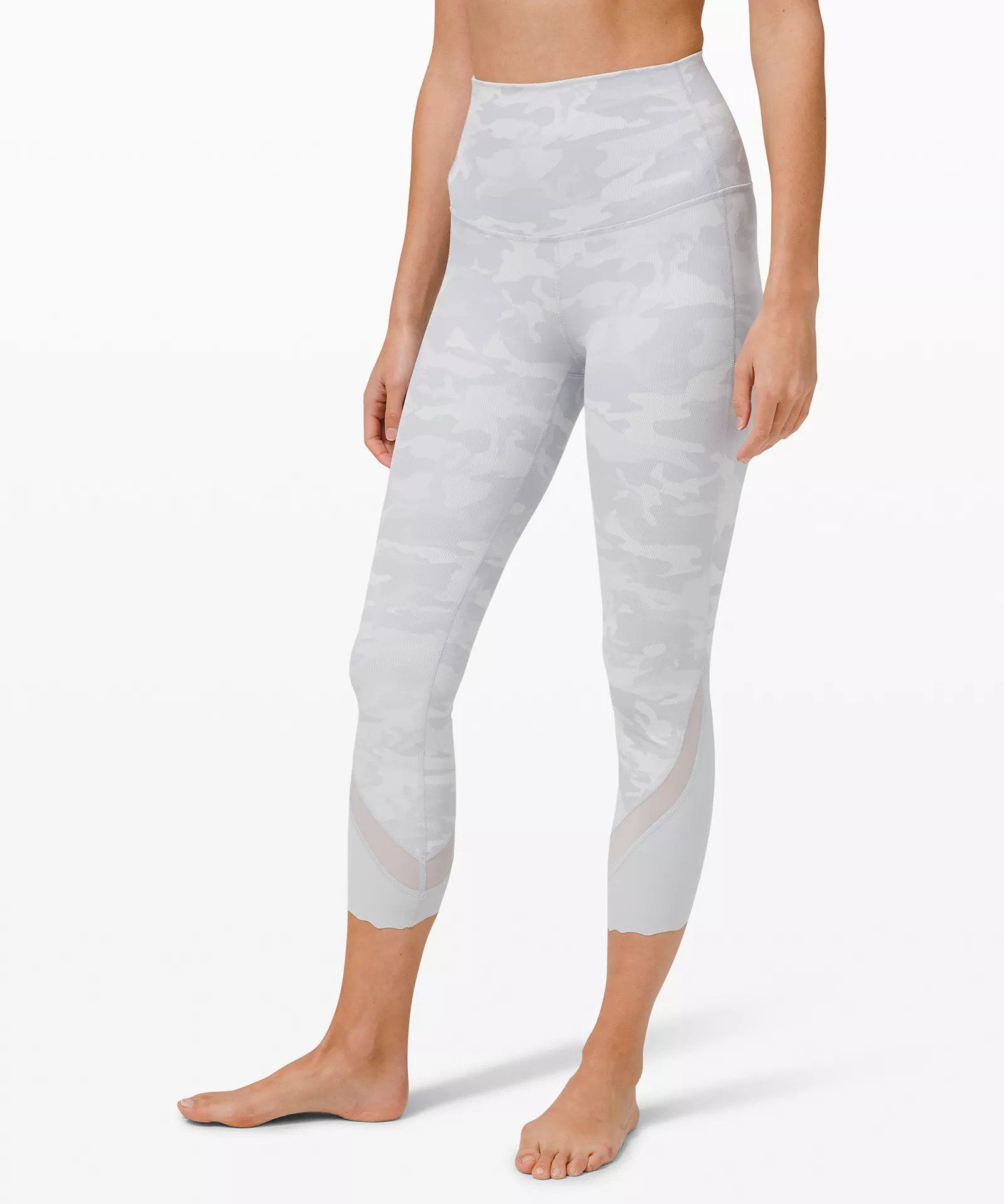 """Lululemon Wunder Under High-Rise Crop 23"""" Updated Scallop Full-On Luxtreme"""