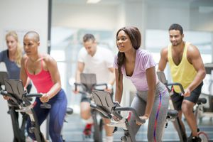 People in spin class