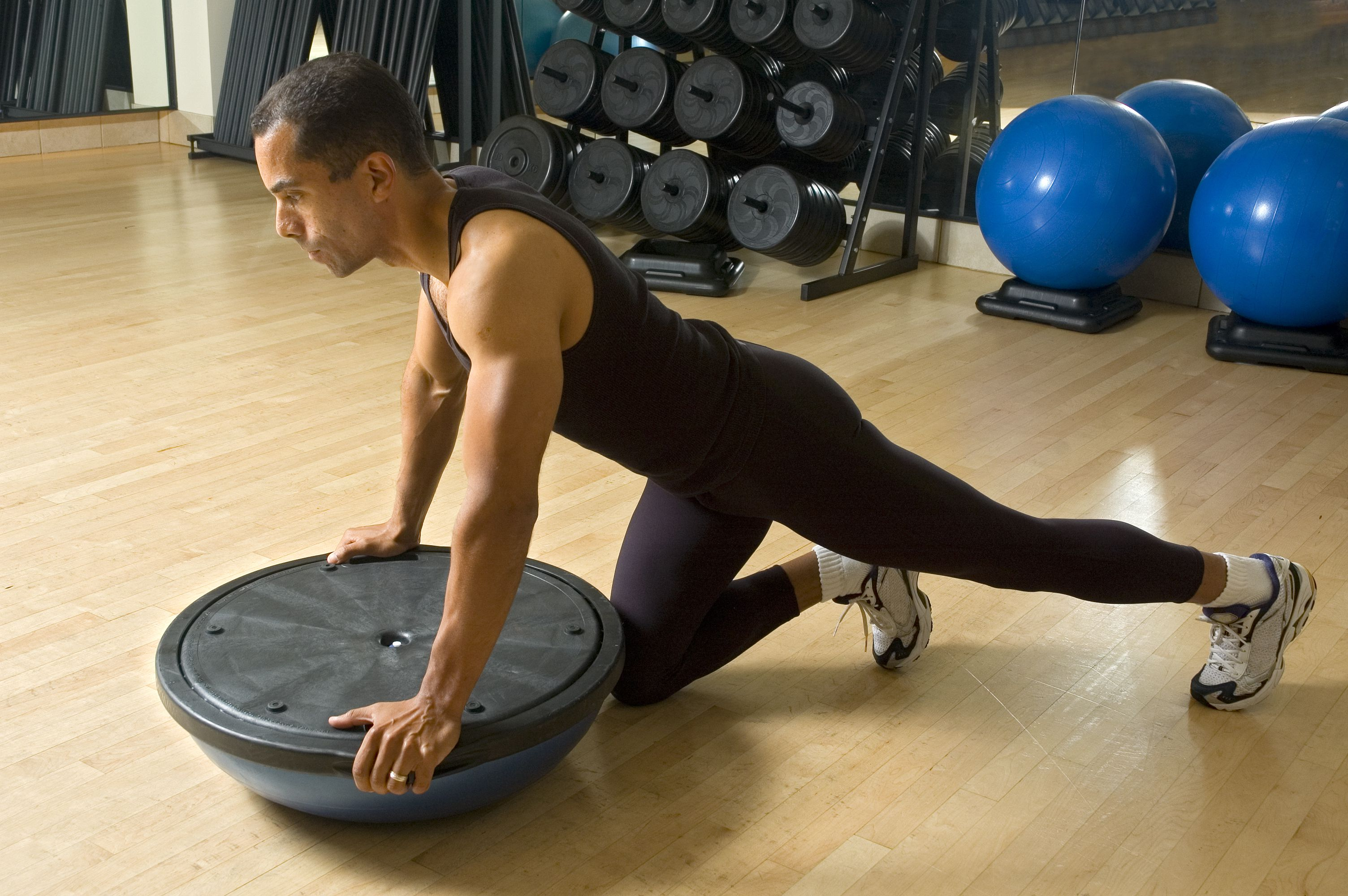 10 Beginner BOSU Balance Trainer Exercises