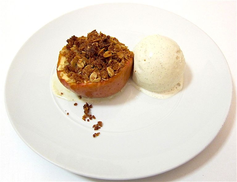 Baked Apples With Olive Oil Crumble Top