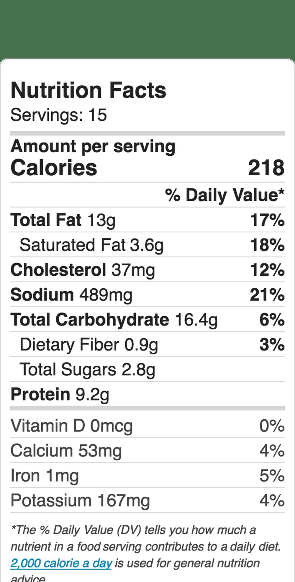 Nutrition Label Embed 2119796472 5b84ae9846e0fb0025cb9b66