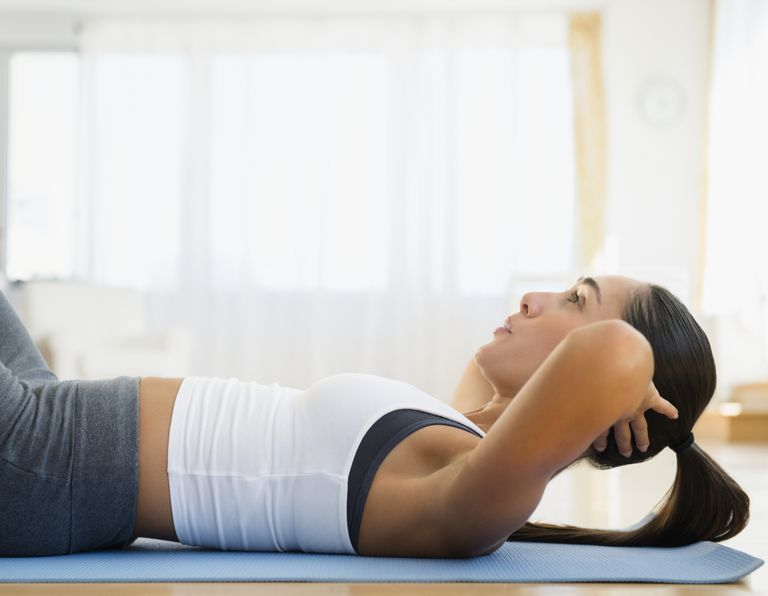 Woman doing situps
