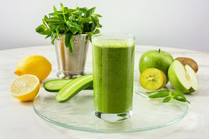 Green Detox Drink - stock photo