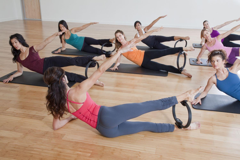 Side-Lying Leg Press With Pilates Magic Circle
