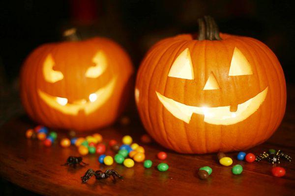 Halloween Pumpkins and Candy