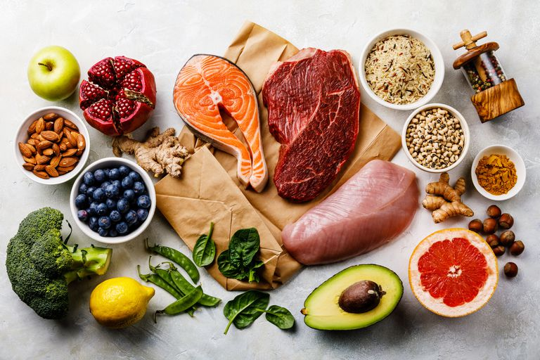 Balanced diet Organic Healthy food Clean eating selection Including Certain Protein