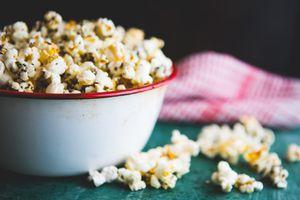 bowl of Popcorn At Home