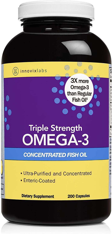 InnovixLabs Triple Strength Omega-3, 200 Capsules